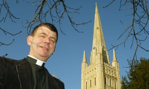 Stephen Platten at Norwich cathedral when he had just been appointed Bishop of Wakefield.
