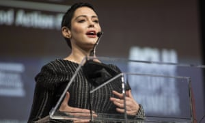Rose McGowan speaks at the Women's Convention in Detroit