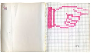 This way to the future … a page from Susan Kare's sketchbook.