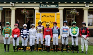 Victoria Pendleton at Betfair novice flat race