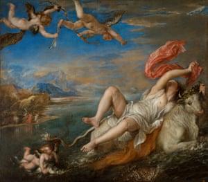 Titian's The Rape of Europa (1559–62).
