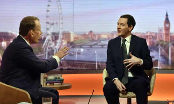 George Osborne appears on The Andrew Marr Show.