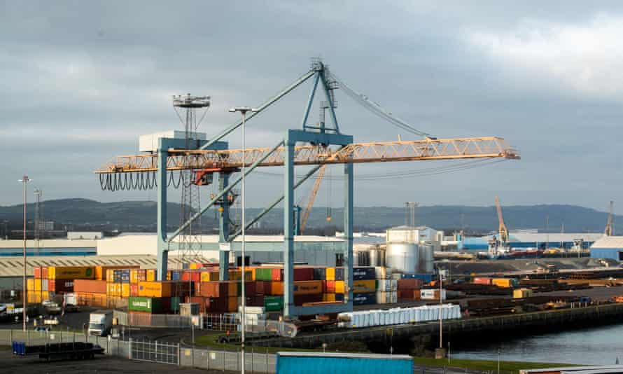 General view of Belfast harbour. A device was discovered at a yard in Co Armagh  after a police search operation.