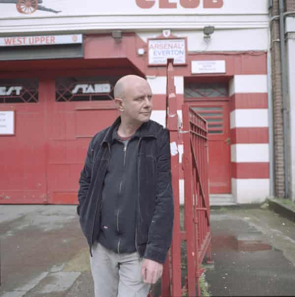 Nick Hornby at Arsenal's Highbury football ground in 2005.