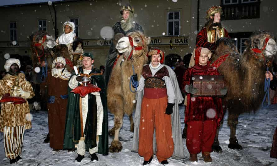 Three Kings procession at Prague Castle