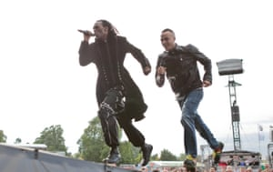 Ranking Roger and Murphy Ranking Jnr on stage during BT London Live in Hyde Park, London in 2012