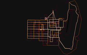 A military base in Helmand, Afghanistan, as seen on Strava