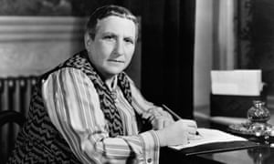 Gertrude Stein at Her Desk in 1936.