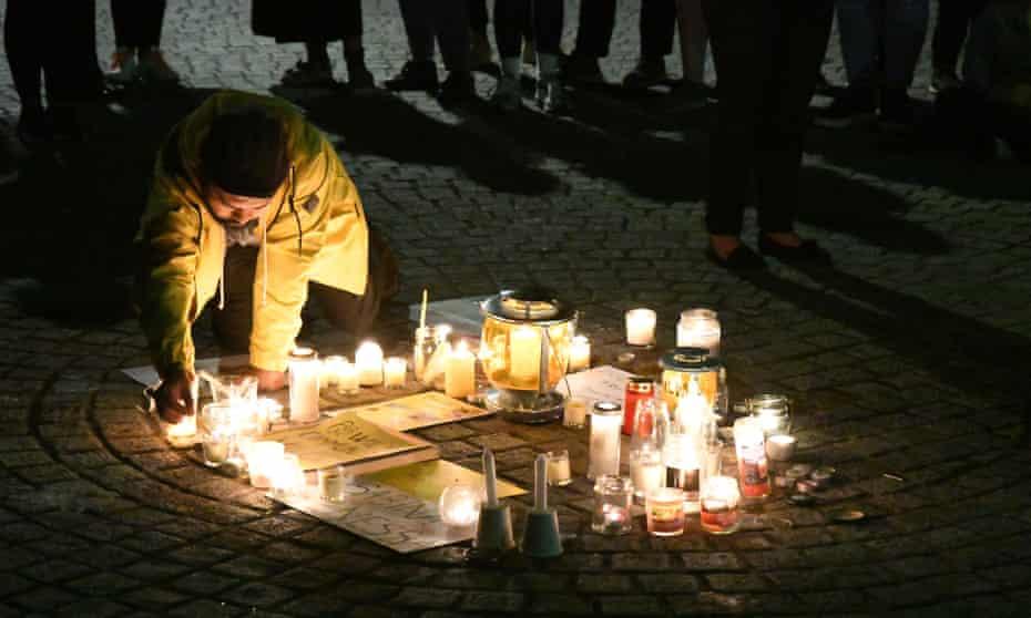 Vigil in Walthamstow for Sabina Nessa, 28 September 2021.