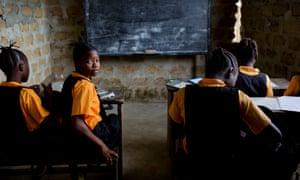 Schoolchildren at the Yassa J David Christian academy in Jawajeh, a village in Liberia