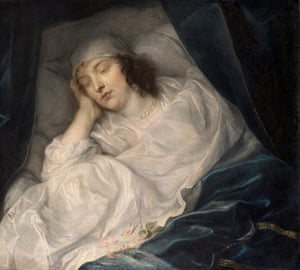 Venetia, Lady Digby, on Her Deathbed by Van Dyck