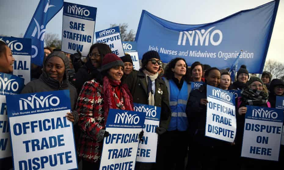 Nurses and midwives go on strike in Dublin on Wednesday