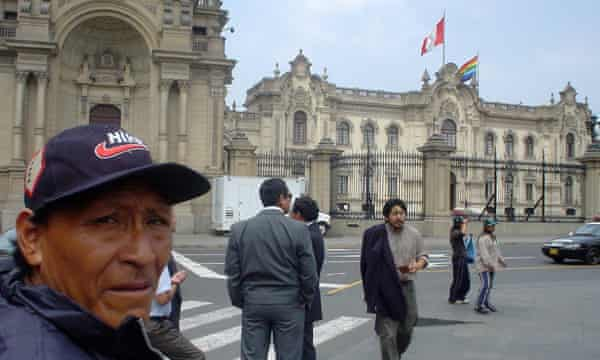 Jose Dixpopidiba, the Nahua headman, on a rarer visit to Lima to campaign against illegal logging in their territory.
