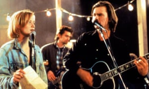 With River Phoenix in The Thing Called Love.