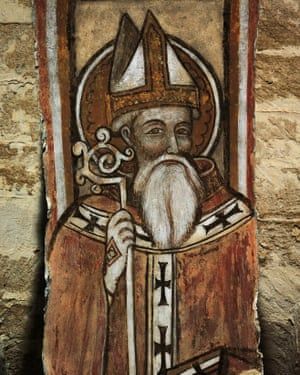 Fresco depicting Saint Nicholas of Bari.