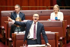 Greens leader Richard Di Natalie in the senate chamber of Parliament House in Canberra this afternoon, Tuesday 16th March 2016.