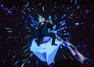 Russia's Sergey Lazarev performs the song 'You Are the Only One'