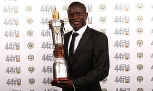 Chelsea's N'Golo Kante after being named PFA Player of the Year at the Grosvenor House Hotel, London.