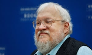Between a rock and a hard place: George RR Martin.