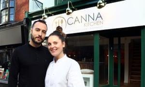 Canna Kitchen proprietor Sam Evolution and chef Charlotte Kjaer