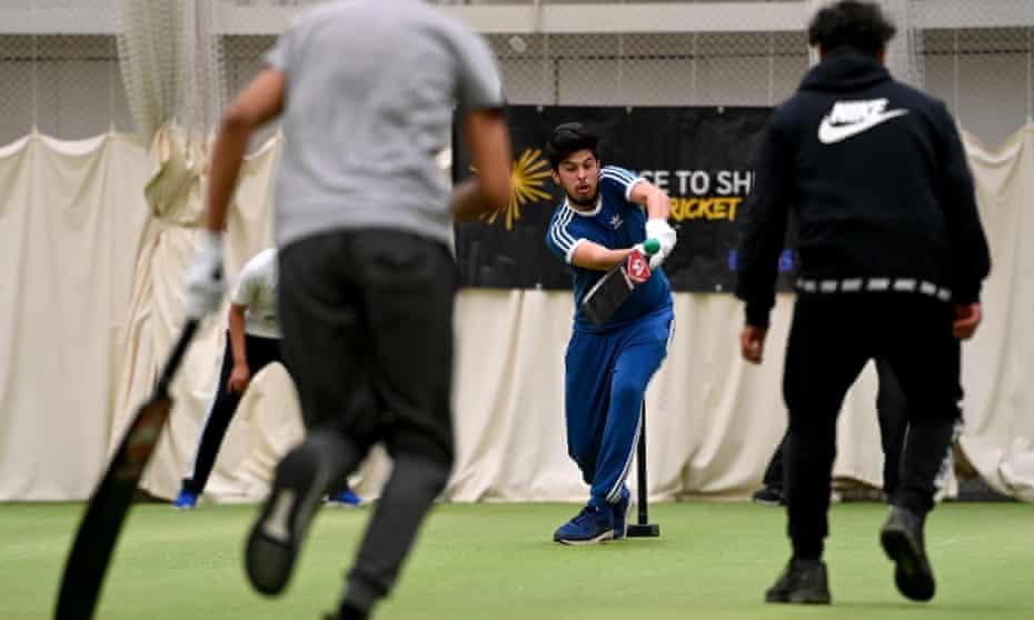 Aggressive stroke play is one hallmark of the Ramadan Cricket League in Edgbaston, Birmingham.