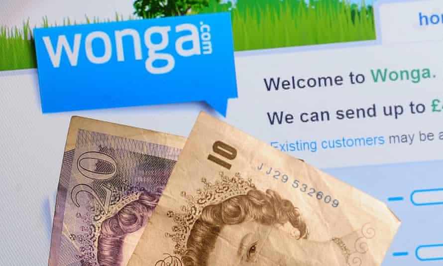 Wonga website and cash