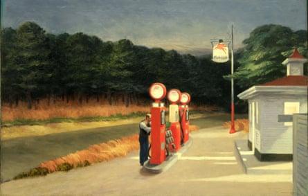 Gas, 1940, by Edward Hopper.