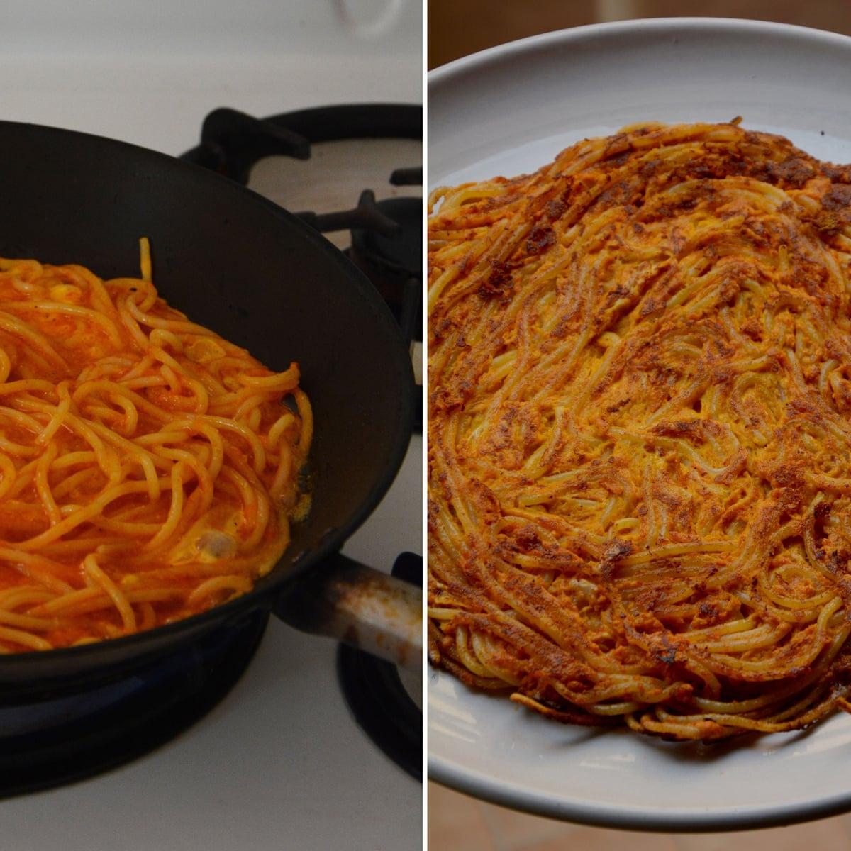 Rachel Roddy S Recipe For Leftover Spaghetti Frittata Food The Guardian