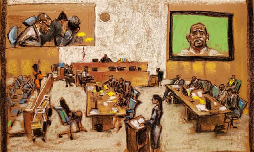 Jerhonda Pace takes the oath at Brooklyn's federal district court, in a courtroom sketch.