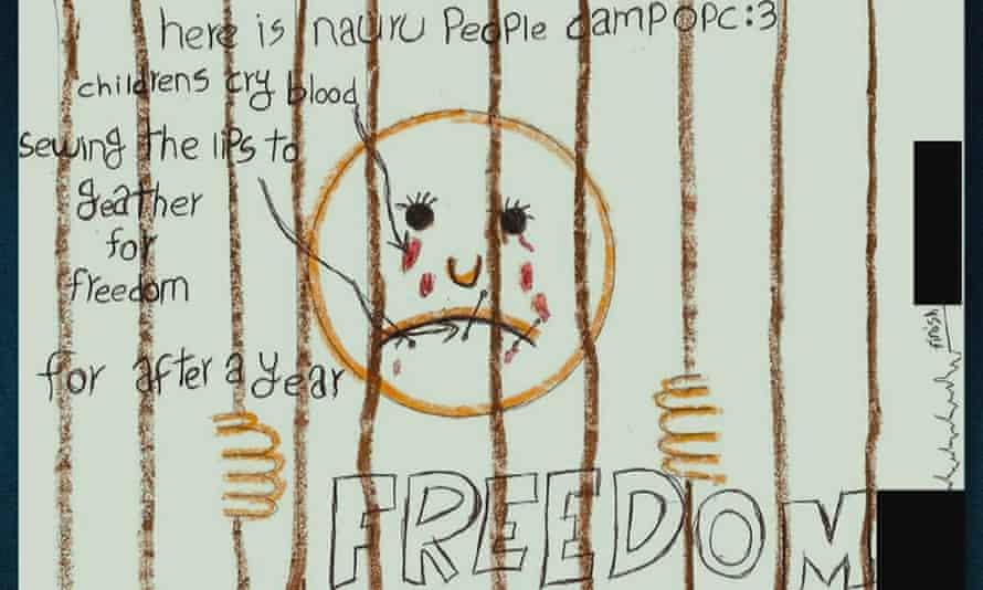 child's drawing from Nauru