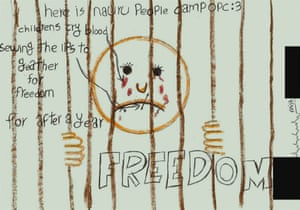 A detained child's drawing from Nauru