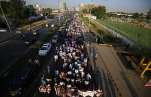 Families of the missing people hold a protest in Karachi in October