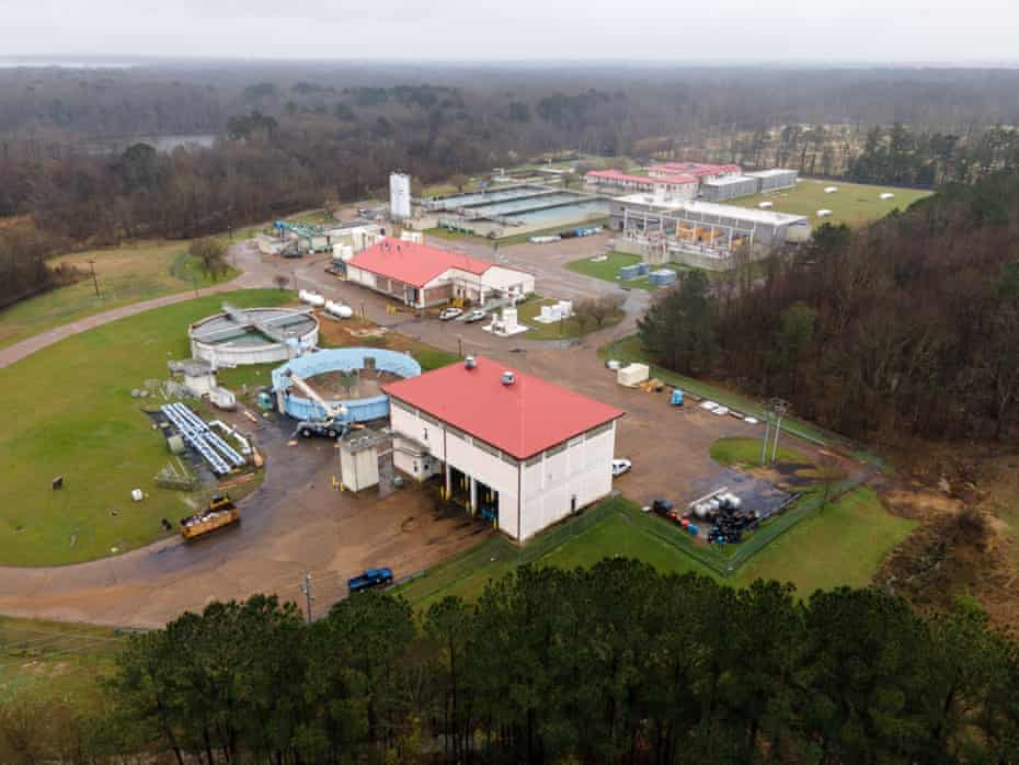 The OB Curtis Water Treatment Plant remains active near Jackson, Mississippi on March 2, 2021.