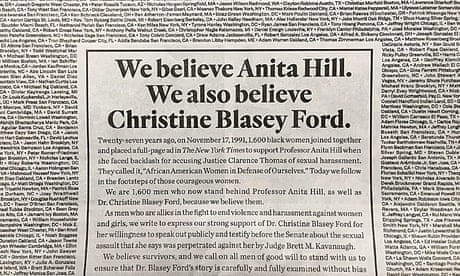 1,600 men voice support for Christine Blasey Ford in New York Times ad