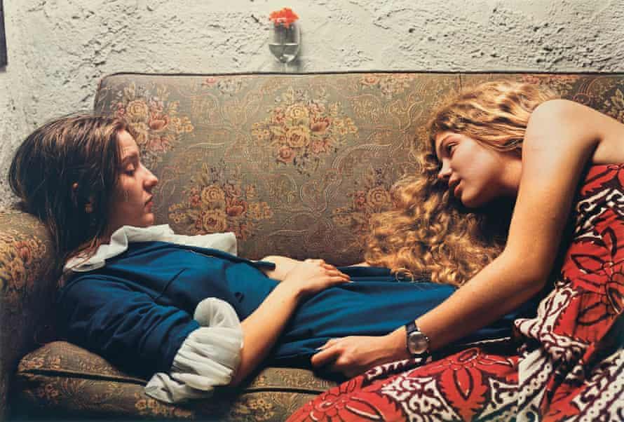 Eggleston's Untitled, 1974, Karen Chatham, left, with the artist's cousin Lesa Aldridge, in Memphis, Tennessee.