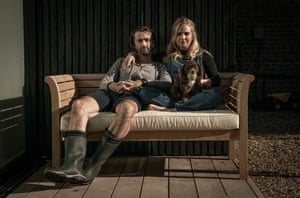 David Tennant with his wife Georgia in Staged