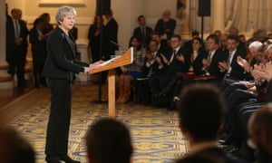 'Wholly fantastical': Theresa May delivers her speech at Mansion House last week
