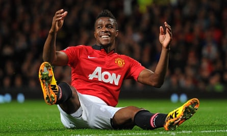 Wilfried Zaha playing for Manchester United in a Capital One Cup tie against Norwich City