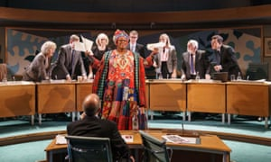Like the Red Army choir … Sandra Marvin (Camila Batmanghelidjh), centre, in Committee ... (A New Musical) at the Donmar Warehouse, London.