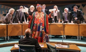 'Imperious': Sandra Marvin as Camila Batmanghelidjh and the company in Committee... at the Donmar.