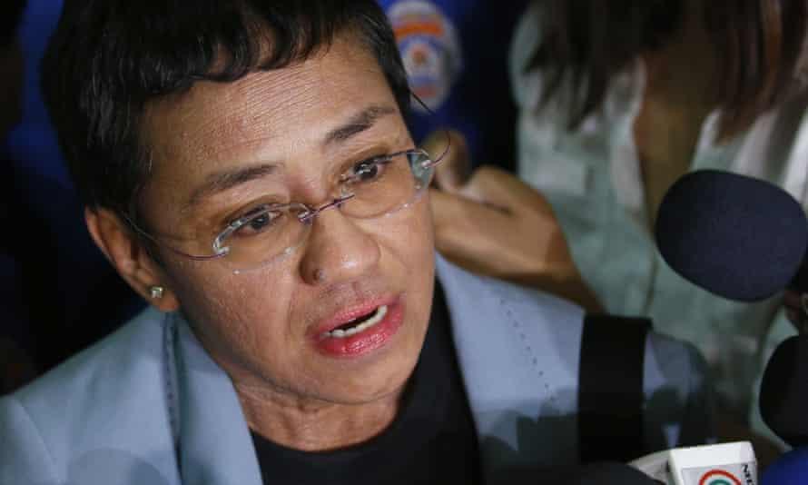 Maria Ressa, the award-winning head of a Philippine online news site Rappler
