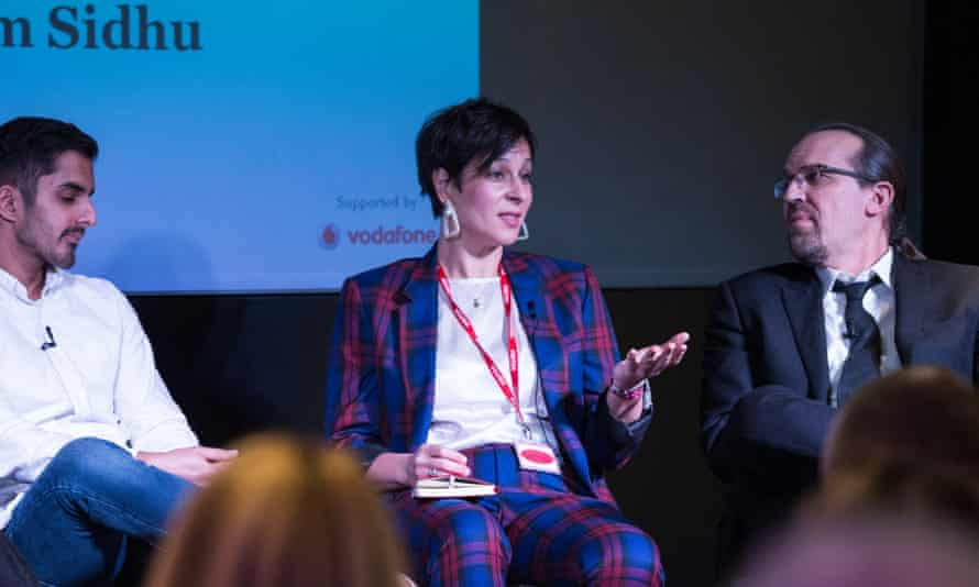 Magdalena Bak-Maier on the panel at the Business Made Simple future of work debate, supported by Vodafone.
