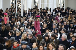Models present creations for Chanel during the 2016-2017 autumn/winter ready-to-wear collection during Paris fashion week