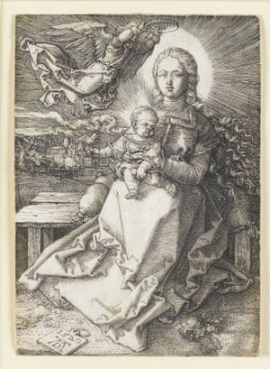 Maria, Crowned by an Angel by German artist Albrecht Dürer
