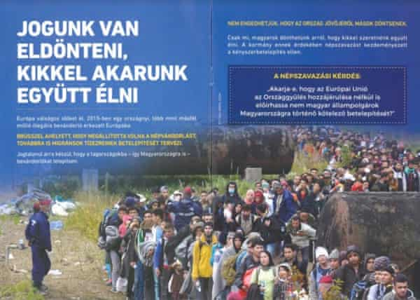 Anti-immigrant booklet published by the Hungarian government