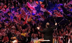 Flags at the Last Night of the Proms at the Royal Albert Hall.