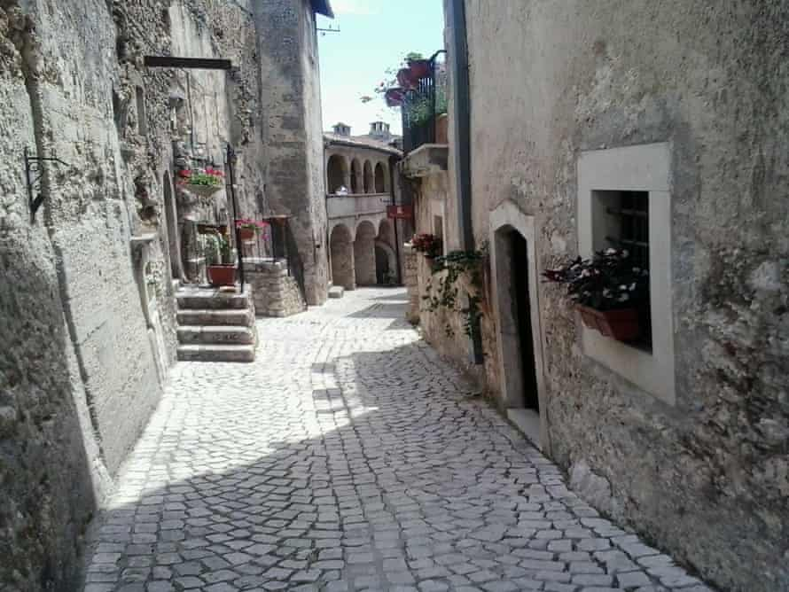 Santo Stefano di Sessanio's restored streets where there is a blanket ban on new building.