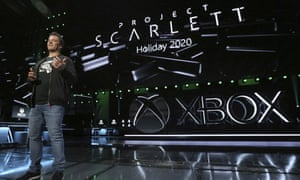 Phil Spencer, head of Xbox, showing off Project Scarlett at the E3 games expo in June