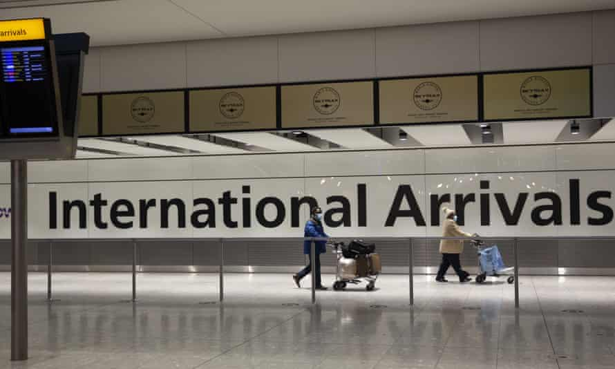 The arrivals area at Heathrow Airport.