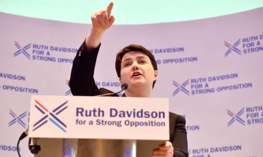 Ruth Davidson launching the manifesto in Glasgow on Wednesday